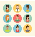 Faces avatars Flat style icons set vector image vector image