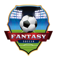 Fantasy Soccer Badge vector image