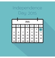 Flat holiday calendar icon vector image