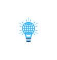 globe idea logo icon design vector image vector image