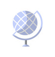 globe isolated icon in flat style vector image