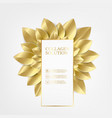 golden leaves in form of flower isolated over vector image vector image