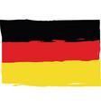 grunge germany flag or banner vector image vector image