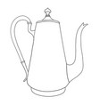 hand drawn coffee pot on white background vector image vector image