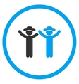 Hands Up People Circled Icon vector image vector image