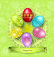happy easter greeting background vector image vector image