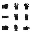imitate icons set simple style vector image