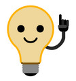 isolated lightbulb emoticon vector image vector image