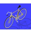 isometric fixed gear bicycle vector image