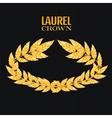 Laurel Crown Greek Wreath With Golden Leaves vector image vector image