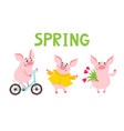 little piggy different emotions and situations vector image vector image