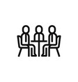 meeting icon vector image vector image