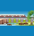 modern train to countryside vector image vector image