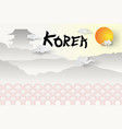 paper art of welcome to south koreas travel vector image vector image