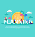 planning effective management background vector image vector image