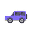 purple big automobile closeup vector image