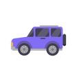 purple big automobile closeup vector image vector image