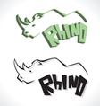 rhino C vector image vector image