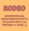 rodeo vintage 3d alphabet set vector image
