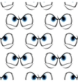 Seamless pattern of cross angry eyes vector image vector image