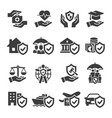 set insurance icons vector image vector image