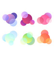 set of multicolored round elements objects vector image