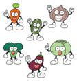 set of vegetable cartoon vector image