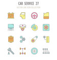 set retro icons car service vector image
