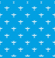 small plane pattern seamless blue vector image vector image
