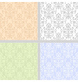 Summer floral seamless patter set vector image vector image