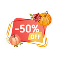 super sale thanksgiving banner autumn special vector image