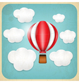 Vintage balloon retro card vector | Price: 1 Credit (USD $1)