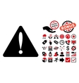 Warning Error Flat Icon with Bonus vector image