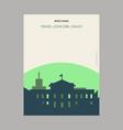white house washington dc usa vintage style vector image