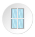 white rectangle window icon circle vector image vector image