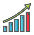 business growth colorful line icon business vector image