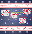 Christmas sale background with labels vector image