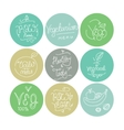 Vegetarian food labels Hand drawn typographic vector image