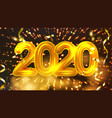 2020 happy christmas holiday party banner vector image