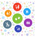 7 parent icons vector image vector image
