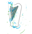 Abstract harp vector image vector image