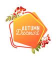 autumn sale banner badge thanksgiving vector image
