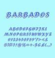 barbados vintage 3d alphabet set