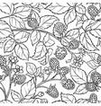 boysenberry branches pattern on white vector image vector image