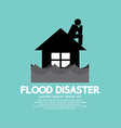 Building Soaking Under Flood Disaster vector image