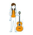 camping woman icon vector image vector image