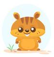 cartoon marmot vector image vector image