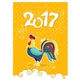 Cartoon rooster characters symbol of 2017 years vector image