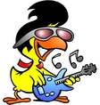chicken guitar vector image vector image