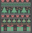 christmas holiday drawing trees gifts and vector image